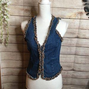 Forever 21 sleeveless denim shirt size L